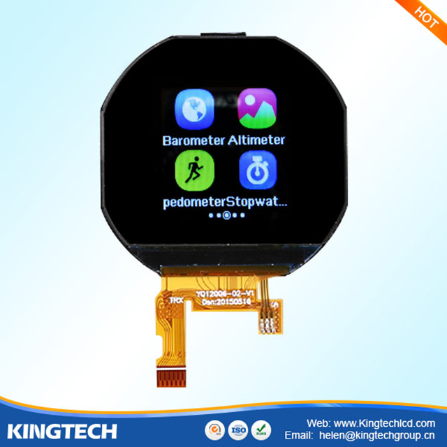 Ips Round 1.22 Inch 240x204 Resolution Spi Tft Lcd Display